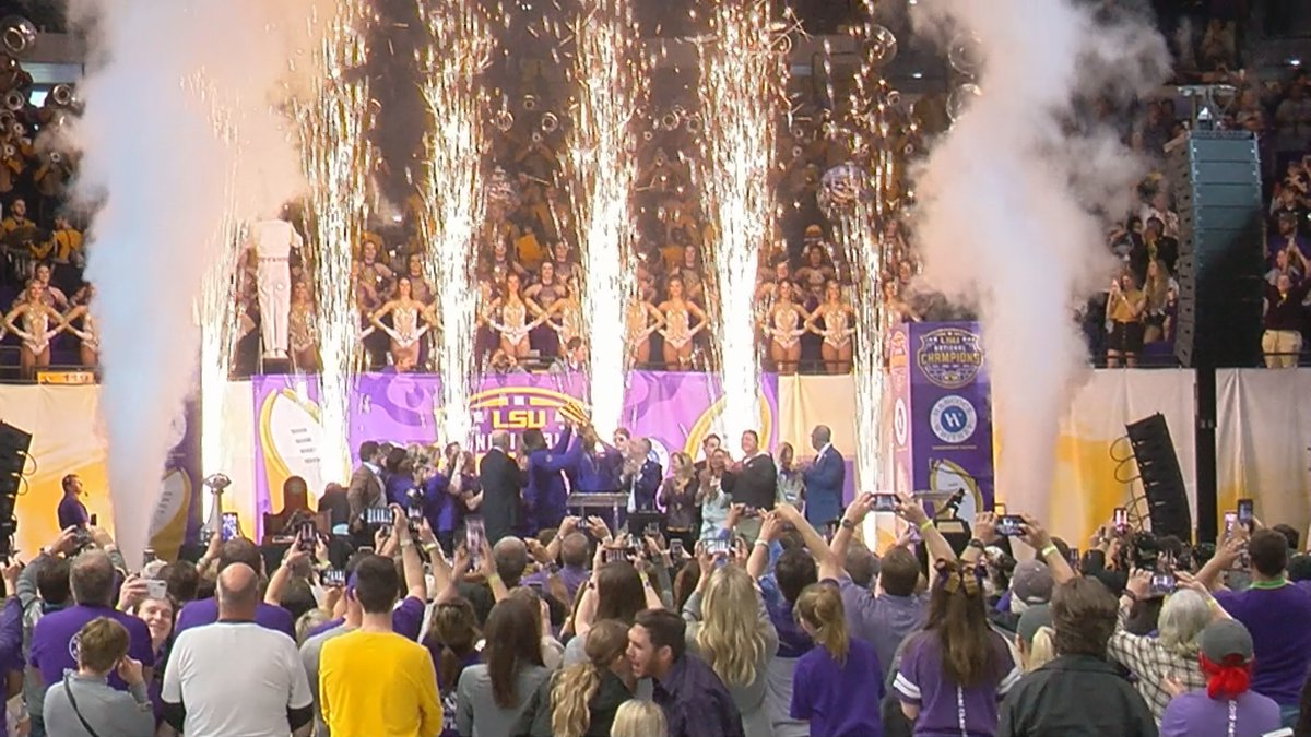 The LSU football team celebrated with the Baton Rouge community with a parade and much fanfare...