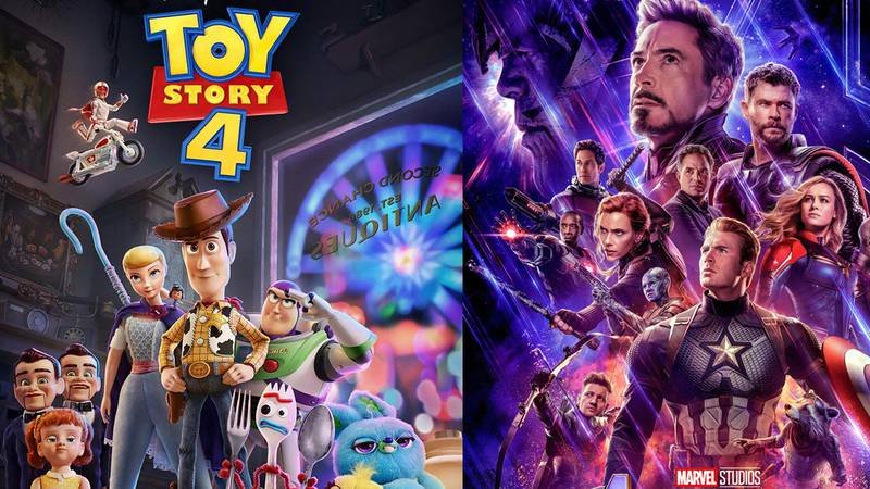 Toy Story 4 and Avengers: Endgame posters
