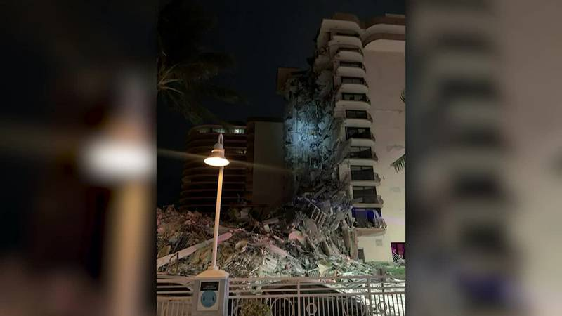A multi-story building near Miami has partially collapsed.