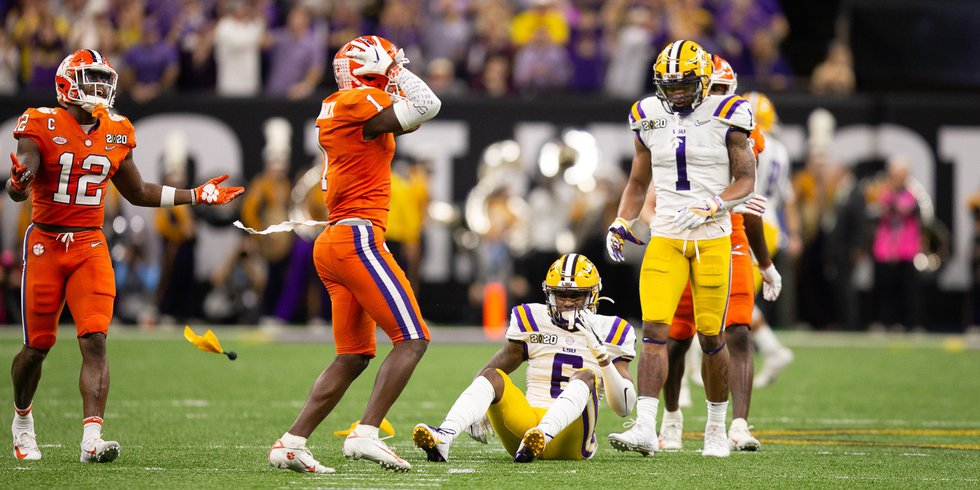 On third down and 19 yards to go in the second quarter, Clemson cornerback Derion Kendrick is...