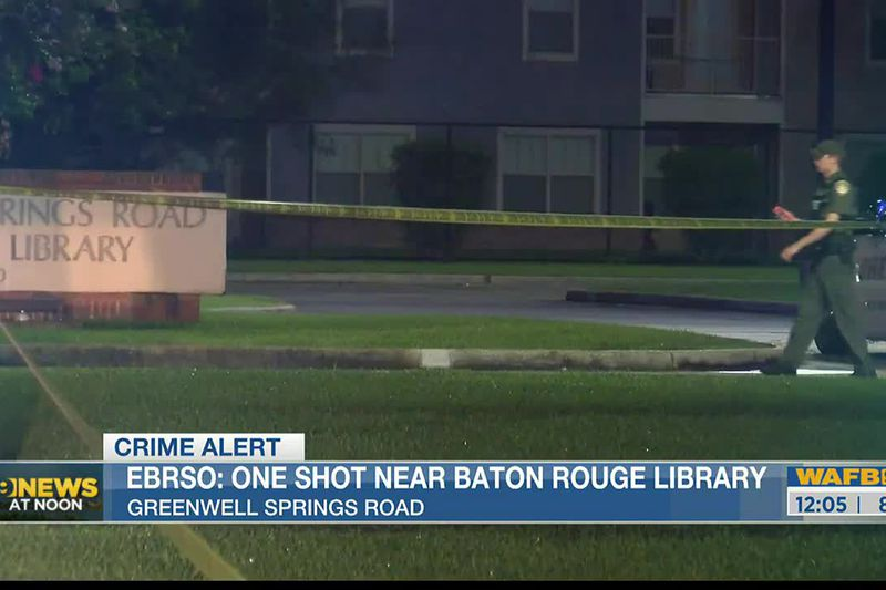 One person was injured in a shooting near the Greenwell Springs Library.
