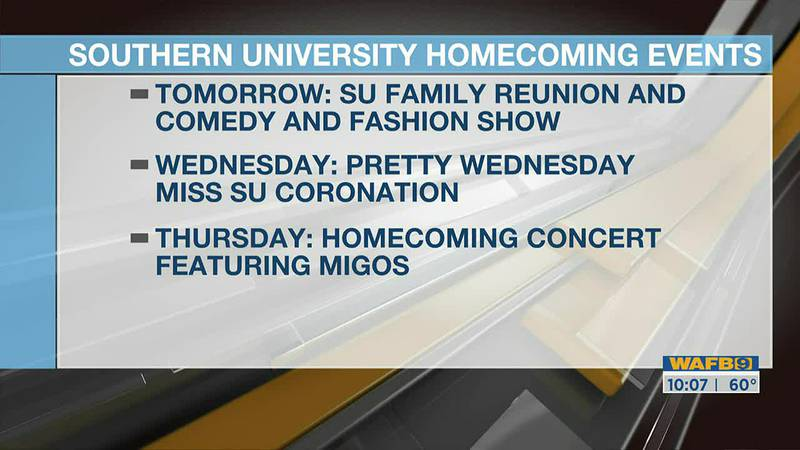 Southern University Homecoming 2021 events