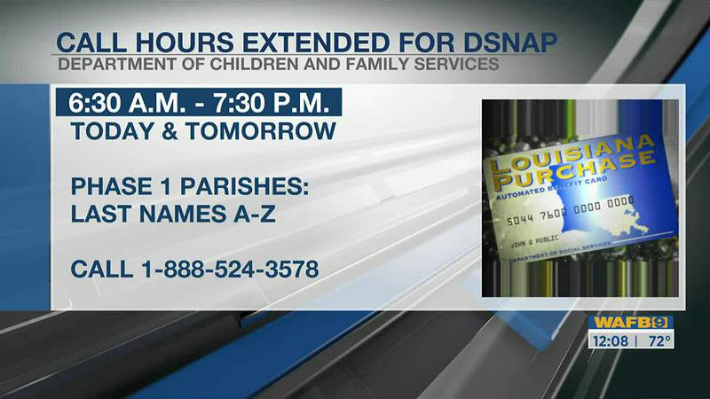 DSNAP Hours extended