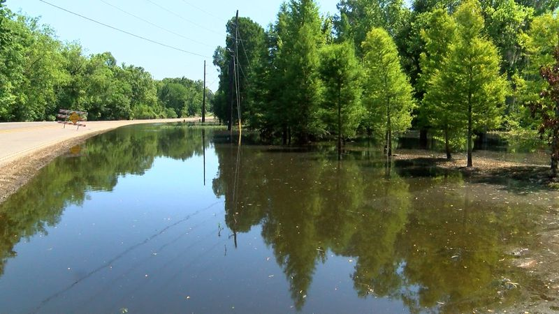 Parts of Ascension Parish continue to see high water from rains that fell in mid-May.