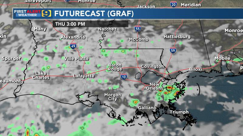 Radar forecast for Thursday, Nov. 26, 2020