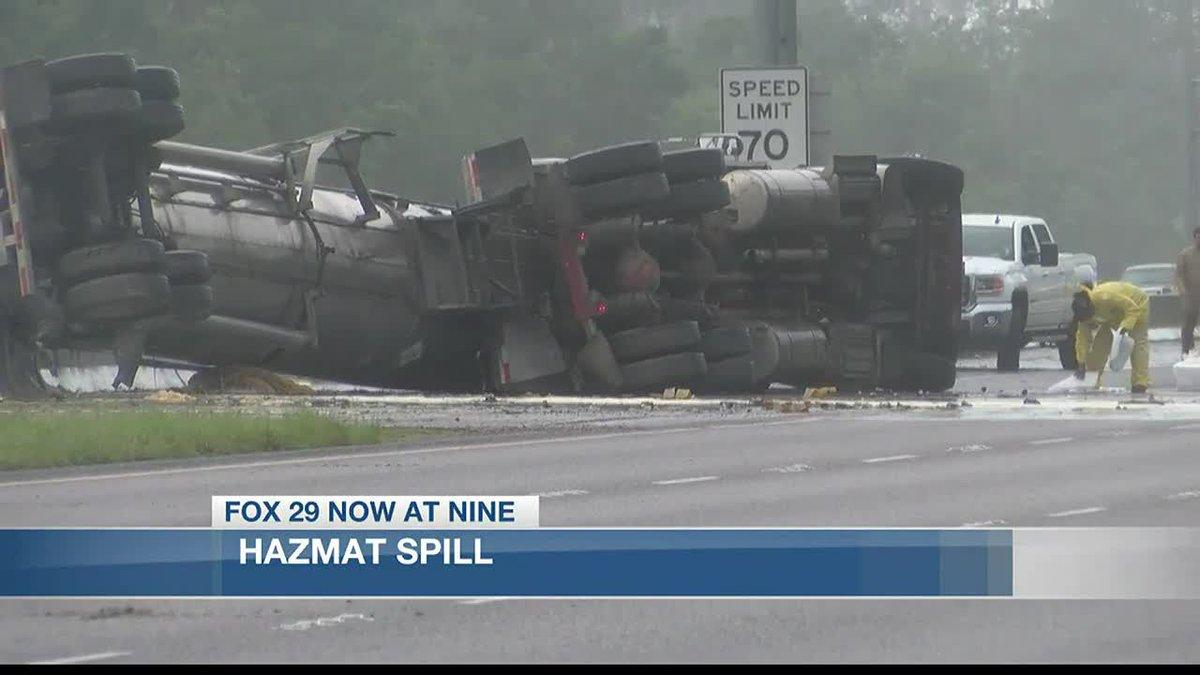 I-10 closed following hazmat accident.
