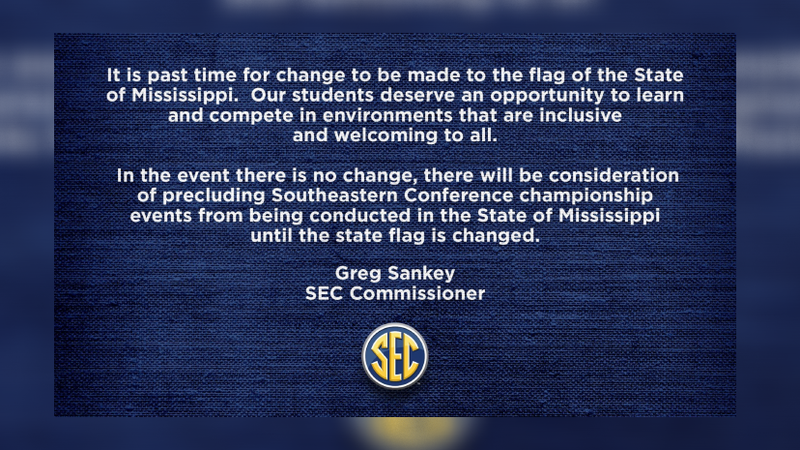 SEC Commissioner: 'It is past time for change to be made to the flag of... Missisisppi'