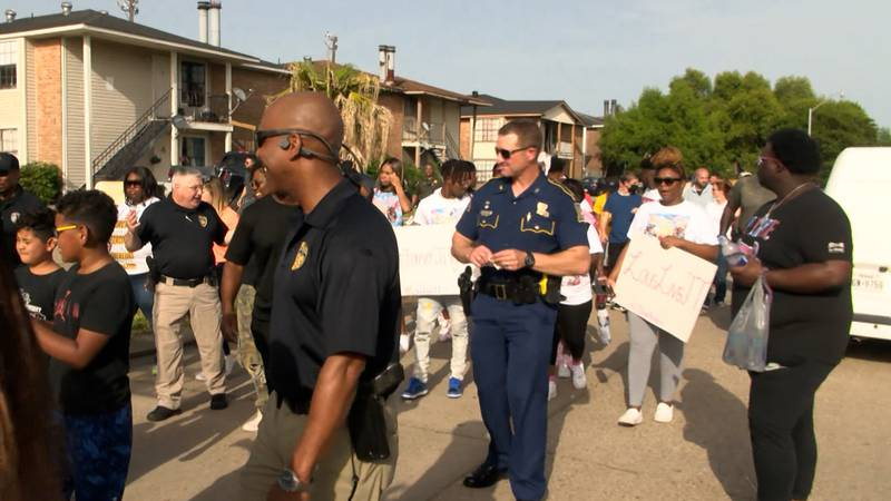 TRUCE held a neighborhood walk with members of law enforcement on Monday, July 12, 2021.