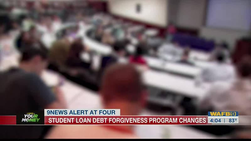 Student loan forgiveness program changes