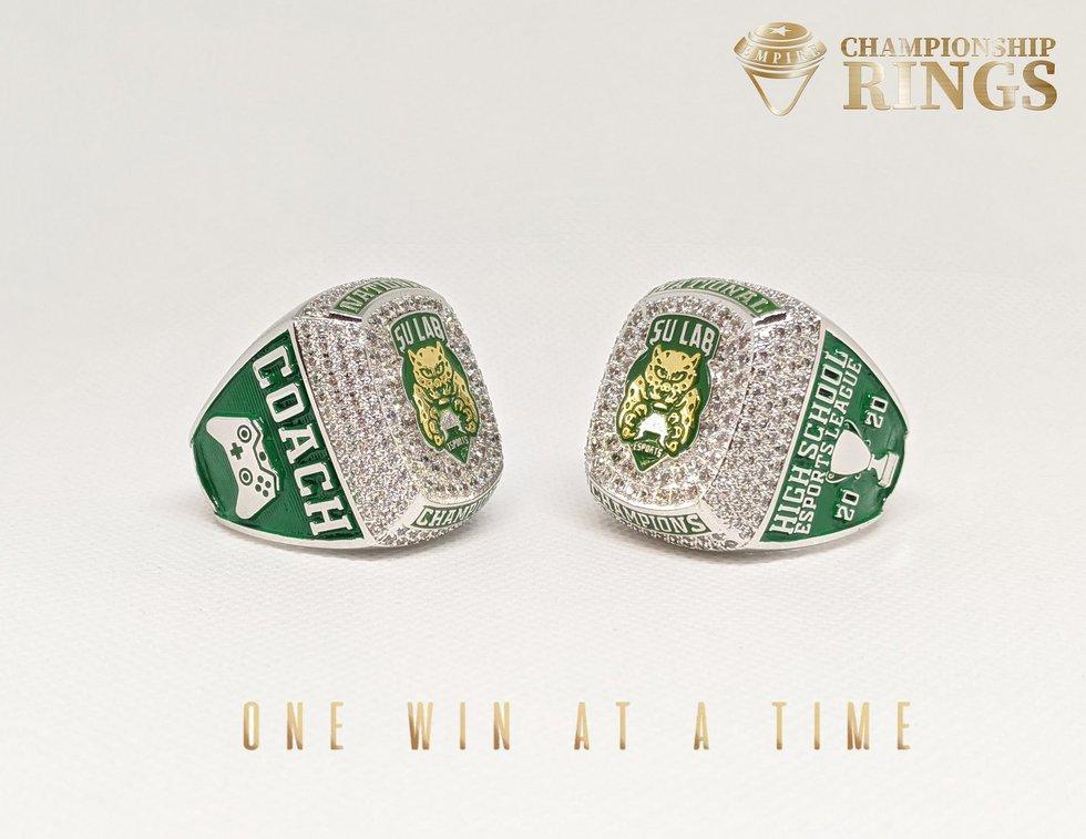 SU Lab esports championship rings