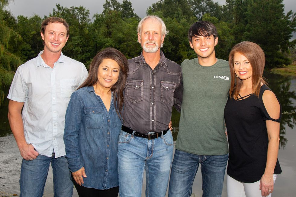 Laine Hardy and his family