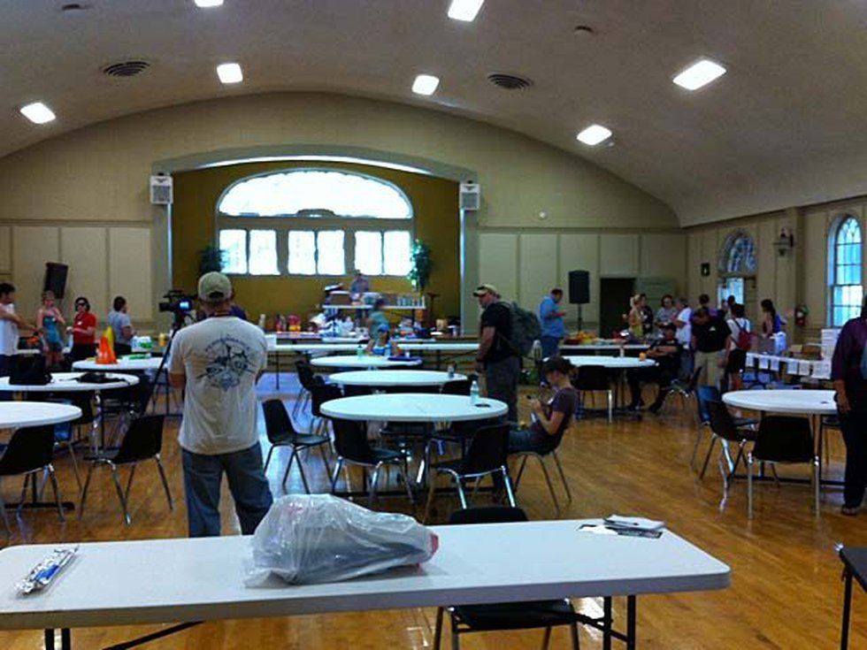 Inside the command center at Our Lady of Wisdom Catholic Church