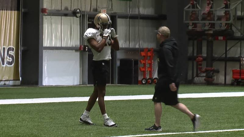 Saints wide receiver Michael Thomas at a late September practice