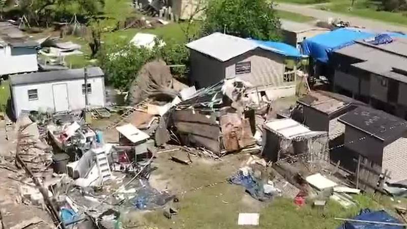 Terrebonne Parish residents in tents