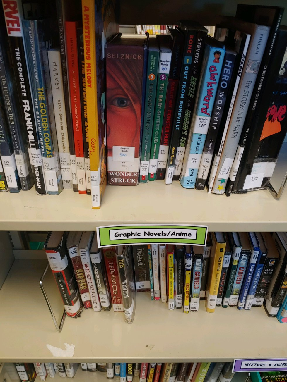 The library at Port Allen Middle now features books the kids actually WANT to read.