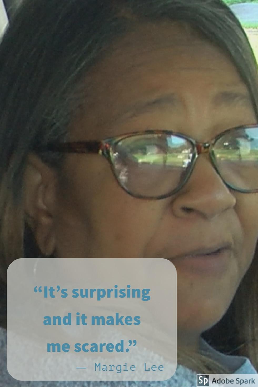 Margie Lee is a concerned grandmother.