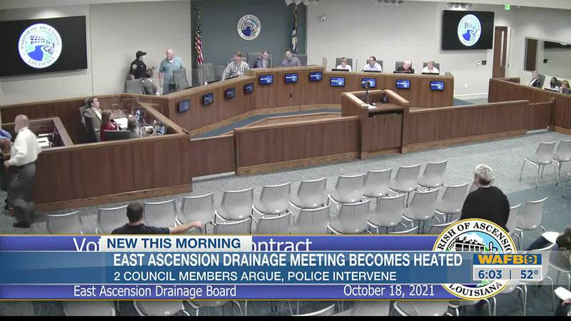 Meeting delayed in Ascension Parish after altercation breaks out between two councilmen