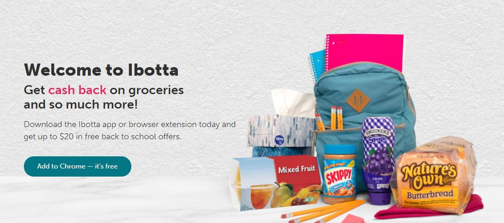 Ibotta's back to school free-for-all program (Source: https://home.ibotta.com/)