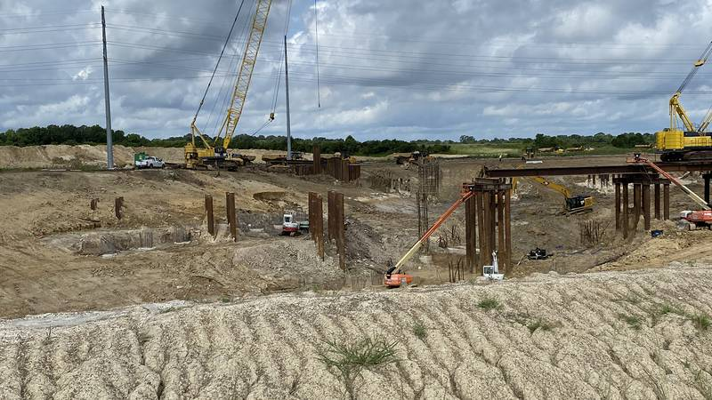 Work on the Comite River Diversion Canal is taking place off US 61 in East Baton Rouge Parish.
