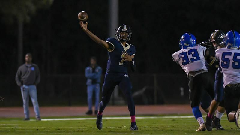 Episcopal quarterback Dylan Mehrotra (No. 7)